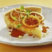 A piece of lemon pie