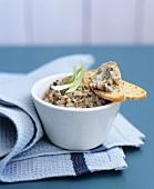 Sardine pâté with toast