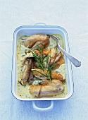 Chicken in herb cream sauce