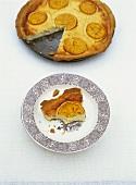 Ricotta orange tart