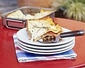 Lamb and pumpkin lasagne
