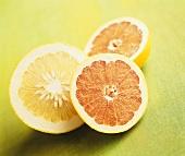 Three grapefruit halves