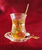 A cup of flower tea