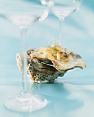 Oyster in vegetable jelly