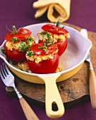 Stuffed tomatoes with cheese and egg stuffing