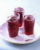 Three glasses of Frozen Berry Bellini