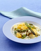 Asparagus and potato ragout