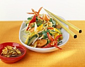 Asian vegetables with lemon grass sauce