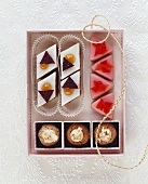 Punch biscuits, fig cookies and rum slices