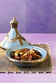 Lamb tajine with vegetables and almonds