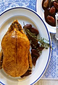 Duck with red wine shallots