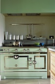 Modern turquoise kitchen in vintage style