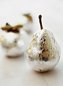 Silvered pear and apple