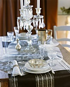 Christmas table with candelabrum