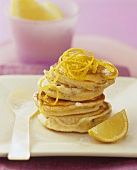 Fruit pikelets with lemon