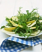 Rocket and apple salad with dill