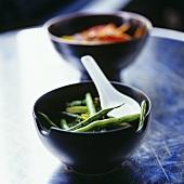 Beans with Asian seasoning and garlic