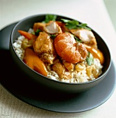 Gumbo with prawns and chicken
