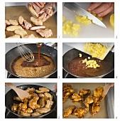 Gebackene Chicken Wings mit Aananas-Sauce zubereiten