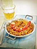 Rice with carabineros (king prawns), Spain