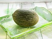 Eine grüne Melone
