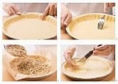 Blind baking