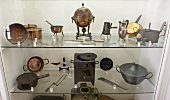 Antique kichten devices in a museum (Siorac, Perigord, France)