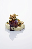Poached veal liver on cauliflower