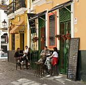 Street cafe in Seville, Spain