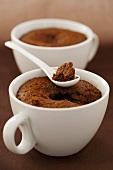 Chocolate cakes in cups