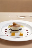 Turkish honey parfait with pineapple salad