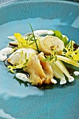 Salad with braised fennel and spring chicken