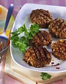 Grilled lentil burgers
