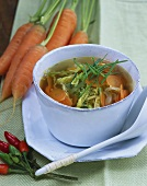 Asian carrot and savoy cabbage soup