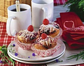 Raspberry and lime muffins