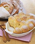 Ausgezogne (type of doughnut) & Rohrnudeln (sweet baked yeast dumplings)