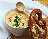 Obatzda (Bavarian Camembert spread) with pretzel