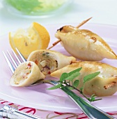 Squid with potato and pepper stuffing
