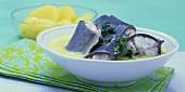 Eel in green (herb) sauce