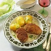Zwickauer Klopse (Meat patties with cream sauce, Germany)
