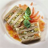 Two slices of vegetable terrine