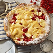 Apple and cranberry tart