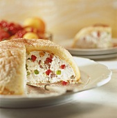 Cassata siciliana (Sponge cake with ricotta & fruit filling)