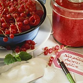 No-cook raspberry and redcurrant jam