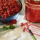 No-cook raspberry and redcurrant jam