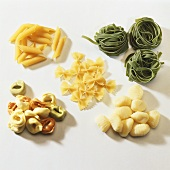 Various types of pasta and gnocchi