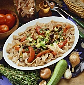 Wholemeal pasta with vegetables