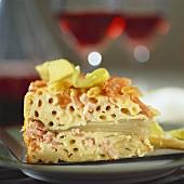 Macaroni bake on plate