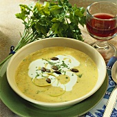 Polenta and leek soup