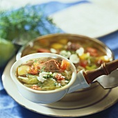 Lamb and cabbage soup